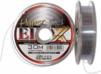 Леска HYPER LIGHT GREY DQ705  30m  0,16mm уп.10шт.